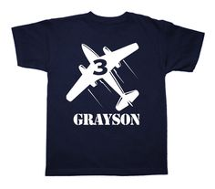 Personalized Birthday Airplane Shirt Any age and by FreshFrogTees, $14.95