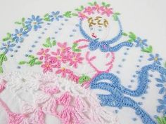 3 Cottage Romantic So Belle Vintage Pink Embroidered Pillowcases | eBay Vintageblessings