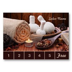 SOLD! Spa & Massage Salon Loyalty Card / Punch Card Business Card