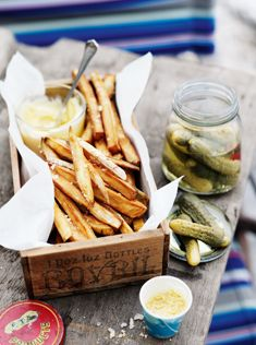 sweet potato chips with mustard salt