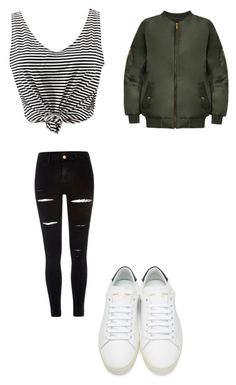 """""""1st outfit of 2k17"""" by jmkz72302 ❤ liked on Polyvore featuring WithChic, River Island, Yves Saint Laurent and WearAll"""