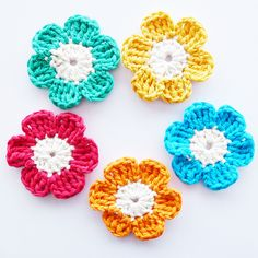 Small Crochet Flower Pattern | Recent Photos The Commons Getty Collection Galleries World Map App ...