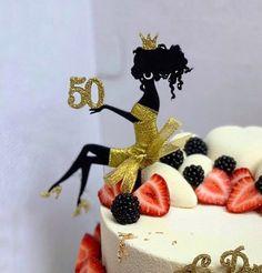 50th Birthday Cake For Women, Birthday Cake Girls Teenager, Yellow Birthday Cakes, 50th Birthday Cake Toppers, Happy Birthday Cakes, Birthday Ideas, 50 Birthday, Birthday Brunch, Silhouette Cake