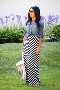 Work your maxi dress all fall by adding an oxford shirt in gingham, chambray, or plaid. Get two more outfit ideas to wear your summer maxi dress in the fall here: http://www.womenshealthmag.com/style/fall-maxi-dress?cm_mmc=Pinterest-_-womenshealth-_-content-style-_-maxidressfall via @Hilary Rushford / Dean Street Society