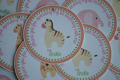 NEW  Sweet Safari Favor Tags by mlf465 on Etsy, $6.00