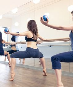 "Raise the ""Barre"" on your workout: Barre Works. All you need is our seamless high tech knickers - your secret weapon while hitting the ""bar""."