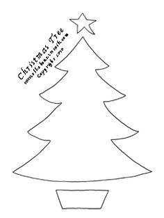 Click here for more Free Christmas Tree Stencils.