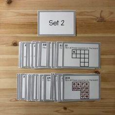 Montessori math: hundreds board task cards SET 2 by Montessorikiwi