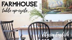 Farmhouse Table Set Refinishing | Up-cycle | Furniture Makeover | Home Decor DIY | Elysia English Farmhouse Furniture, Farmhouse Table, Farmhouse Decor, English Farmhouse, Reupholster Furniture, Furniture Makeover, Boho Decor, Painted Furniture, Youtube