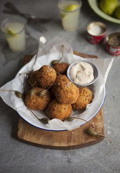 cauliflower and cheese croquettes.