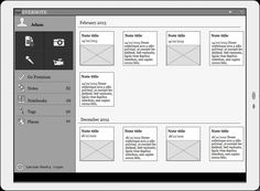 Android Tablet Wireframes in Mockup Builder