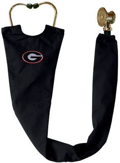 University of Georgia Black Stethoscope Cover