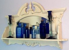 My blue and white in the master bath...