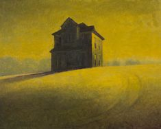 Jerald Melberg Gallery > Artists > Gallery Artists > Gallery Artists - Richard Stenhouse > Stenhouse - House on a Hill  16x20 oil on panel