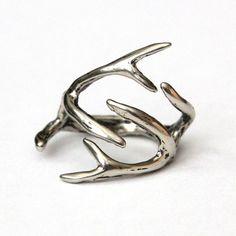 Deer antler ring. #need
