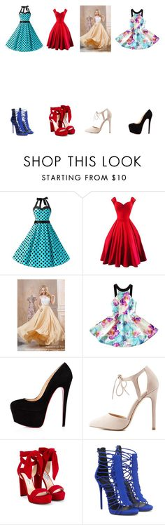 """Party Dress's"" by parnia2002 ❤ liked on Polyvore featuring Charlotte Russe, Jimmy Choo and Giuseppe Zanotti"