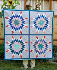 Quilt or Stitch? How about both?: Nautical Lone Star Quilt