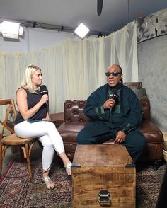 We are with the legendary Stevie Wonder at our BottleRock photo and video lounge minutes before he performs! Check back on Billboard.com for an exclusive interview! #bottlerock #steviewonder #legend