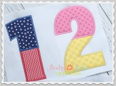 Baby Kay's Appliques - Split Applique Numbers 0-9 4x4, 5x7, 6x10, 8x8, $2.50 (http://www.babykaysappliques.com/split-applique-numbers-0-9-4x4-5x7-6x10-8x8/)