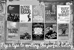 Top 5 tips to writing the perfect event listing
