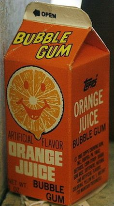 Remember getting Orange Juice Bubble Gum whenever we went to Toys R Us at the mall.