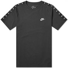 Buy the Nike Futura Tape Tee in Black & White from leading mens fashion retailer END. - only Fast shipping on all latest Nike products Nike Shirts Women, Nike Men, Nike Sweatshirts, Nike Outfits, School Outfits, Slim Fit Pants, Fashion Branding, Nike Tops, Mens Tops