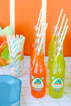 Drink Ideas for any party! Like this surf's Up Summer Pool Party! - Karas Party Ideas - The Place for All Things Party