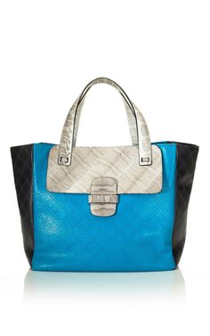 Marc Jacobs's Resort 2013 Collection ~ The Preforated Khai with Ayers Bag  - Again more color block & color!