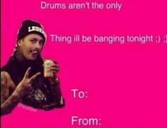 Pierce The Veil Valentines Card