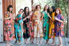 Real life Sample - Bridesmaids Kaftan Robes made From D1 Fabric Pattern