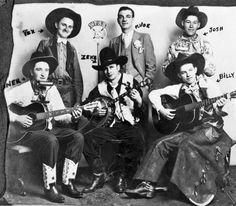 Cowboy musicians at WFAB Radio Station, New York, ca. 1930-39. #OldWest #cowboys
