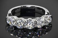 5 stone diamond wedding bands for women | A Trusted Wedding Source by Dyal.net
