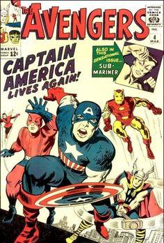 The Avengers # 4, Captain America Lives Again!