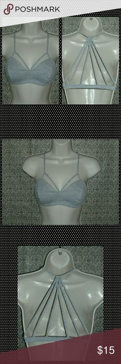 ⚡JUST IN!! SEXY BRALETTE!!⚡ Heather gray bralette!  Thick and strong material. 98% cotton and 2% spandex. Very comfortable! Small fits 32-34 cup size A-B Medium fits 34-36 cup size A-B  Large fits 36-38 cup size A-B  ***ALSO AVAILABLE IN BLACK IN A SEPARATE LISTING!!*** Intimates & Sleepwear Bras
