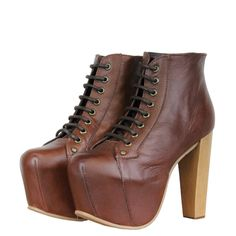 Jeffrey Campbell Lita Womens Platform Shoes AW12 Brown from www.hypedirect.com Platform Shoes, Jeffrey Campbell, Trainers, Footwear, Lady, Brown, Heels, Women, Fashion