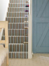 If you're on a quest to spruce up this essential part of home, we've got you covered. Take a look at our stair carpet ideas to give you the inspiration you need to transform your stairs. Striped Carpet Stairs, Striped Carpets, Carpet Staircase, Hallway Carpet, Staircase Runner, Patterned Carpet, Leicester, Painted Stairs, Stairway To Heaven