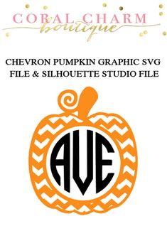 Chevron Pumpkin Design File for Cutting by CoralCharmBoutique