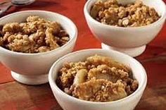 #kraftrecipes   This is my favorite recipe for apple crisp..I've made this in the microwave too
