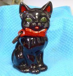Vintage Shafford Black Cat Redware Napco Tommy Bank (02/27/2011)