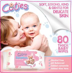 Cuties Baby Wipes 80's