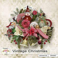 Vintage Christmas kit by Designs by Brigit