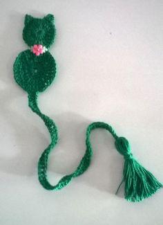 Marcador de Páginas Gatinho - Crochê