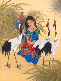 Caroline R. Young | El arte de Caroline R. Young se centra en interpretar el drama, el romance y la magia de la mitología y la historia de la antigua China y Japón. Nació en Hong Kong y se mudó a Haw…