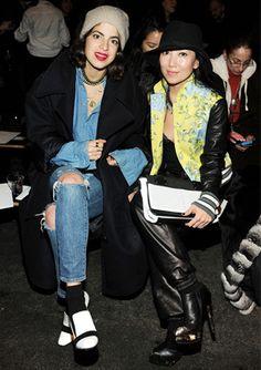 Leandra Medine and Tina Craig at Rag & Bone, Mercedes-Benz Fashion Week New York, AW13