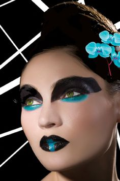 Great makeup for dance costume