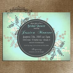 Printable Bridal Shower Invitation - Digital Download - Customized or Personalized to your event! ANY invitation wording can be changed for ANY