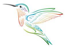 Blown Glass Hummingbird Feeders