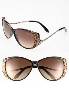 @Robert Osborn Cavalli @Nordstrom leopard print frame sunglasses. http://zodiacfashion.blogspot.com