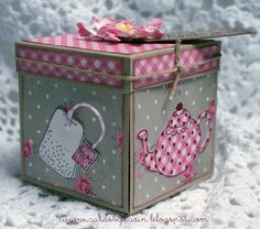 Time for Tea - cute gift box for tea bags