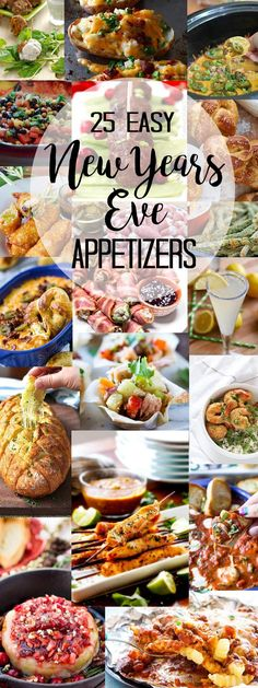New Year's Eve Appetizers sure to make your mouth water!